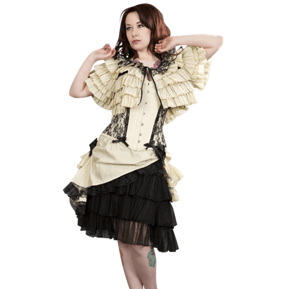 Diva Cream Taffeta Skirt