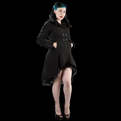 Dark Lady Black Fleece Coat