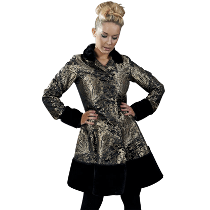 Dark Lady Gold Brocade Coat