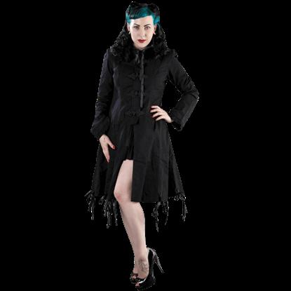 Elizabeth Black Twill Coat