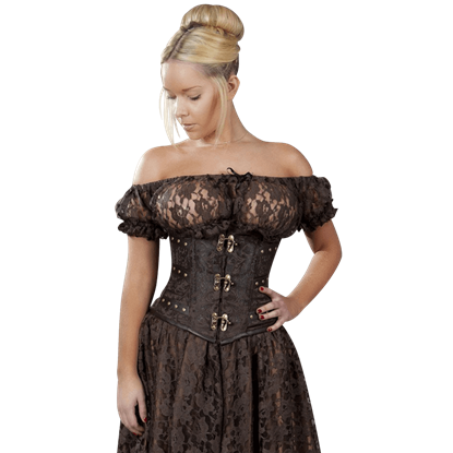 Brown King Brocade Underbust Corset