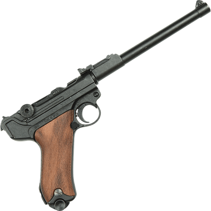 1917 Artillery P08 Luger Pistol with Wood Grips
