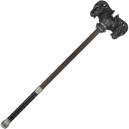 Black Calfera Two-Handed LARP Hammer