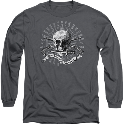 Here There Be Pirates Long Sleeve T-Shirt