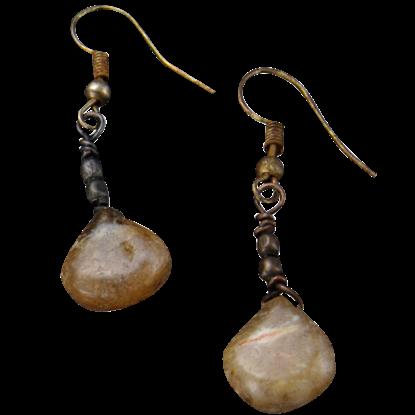 Agate Teardrop Stone Earrings