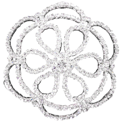 Rhinestone Flower Petal Hair Bun Cover