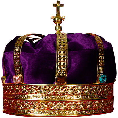 Gold and Purple Kings Crown