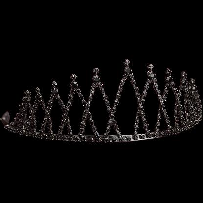Black Rhinestone Queens Crown