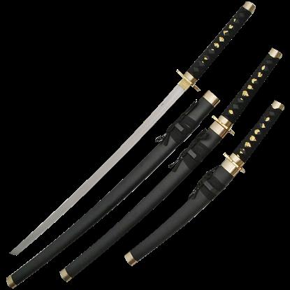 Black Japanese Sword Set
