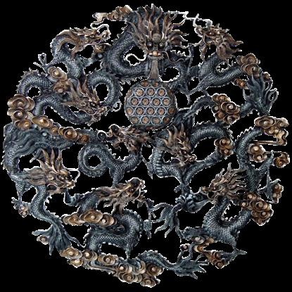Oriental Nine Dragons Plaque