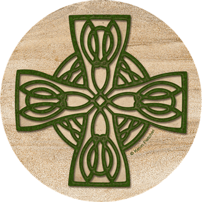 Celtic Cross Coaster Set