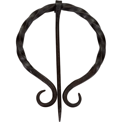 Twisted Medieval Cloak Pin