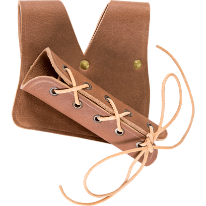 Brown Lace Up Leather Frog