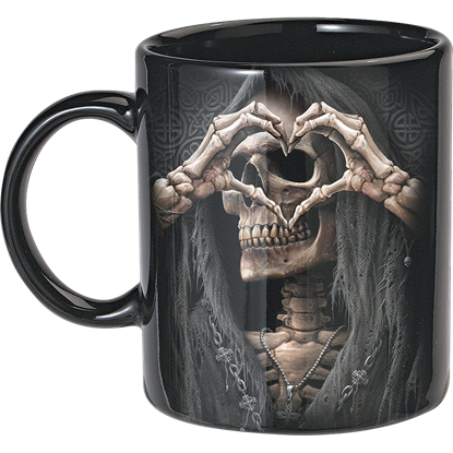 Bone Finger Ceramic Mug Set