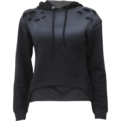 Womens Distressed Gothic Hoodie