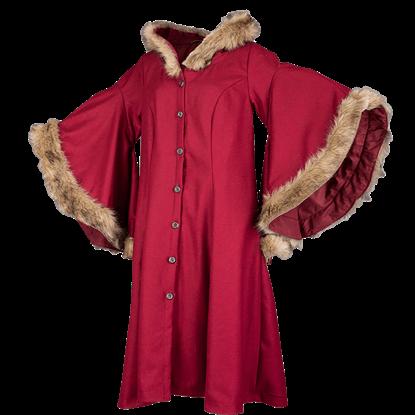 Lilian Hooded Wool Coat
