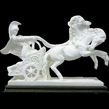 Carrara Marble Roman Chariot Statue