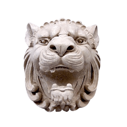 Castle Lion Head Plaque