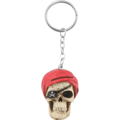 Pirate Skull Key Chain