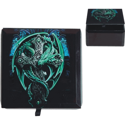 Anne Stokes Woodland Guardian Trinket Box