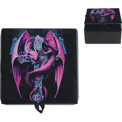 Anne Stokes Purple Gothic Guardian Trinket Box