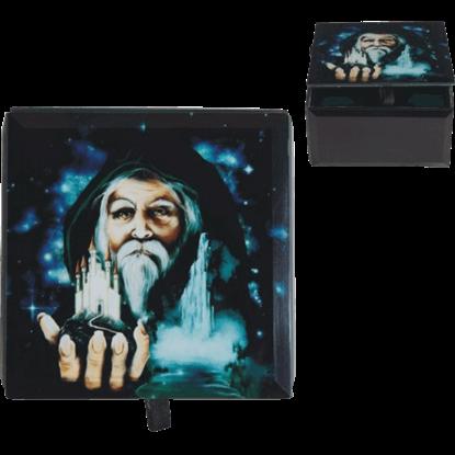 Summoning Wizard Trinket Box