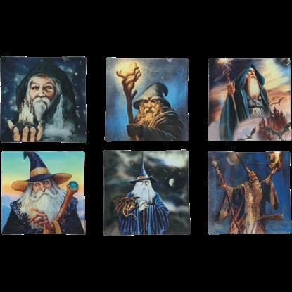 Wizard Decorative Tiles 6 Pack