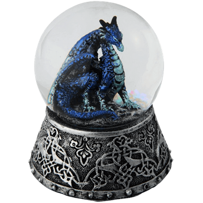 Celtic Ice Dragon Snow Globe