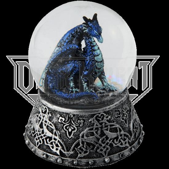 Celtic Ice Dragon Snow Globe