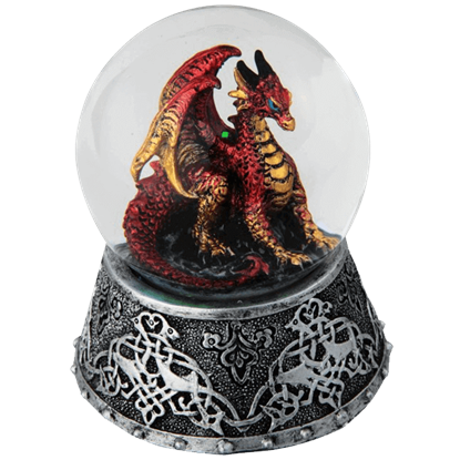 Celtic Fire Dragon Snow Globe