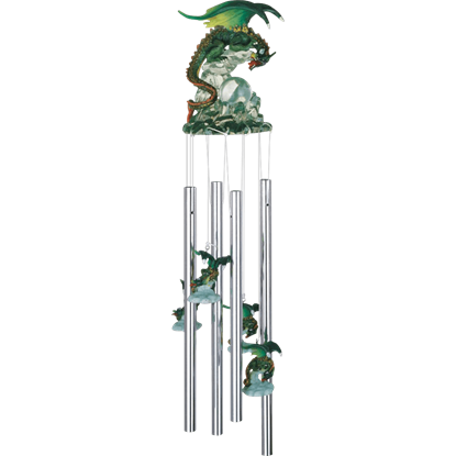 Green Crystal Dragon Wind Chime