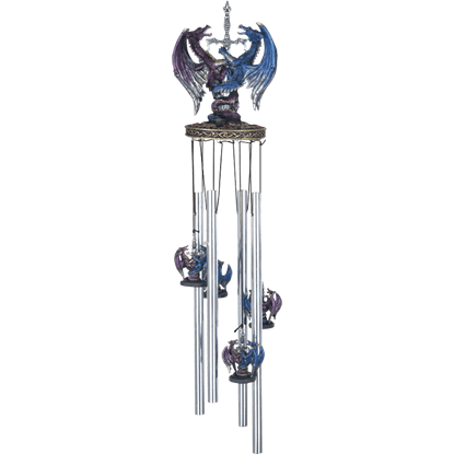 Dueling Dragons with Sword Wind Chime