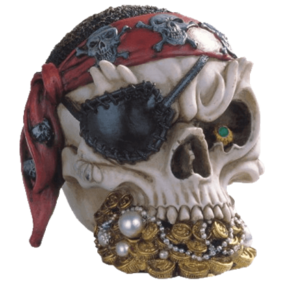 Pirates Treasure Skull