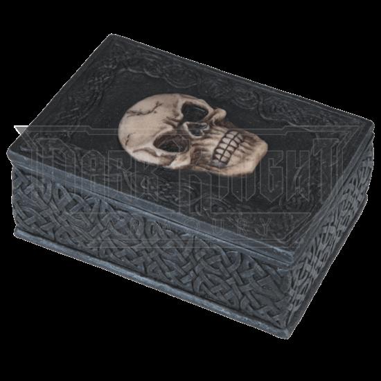Goth Celtic Skull Trinket Box