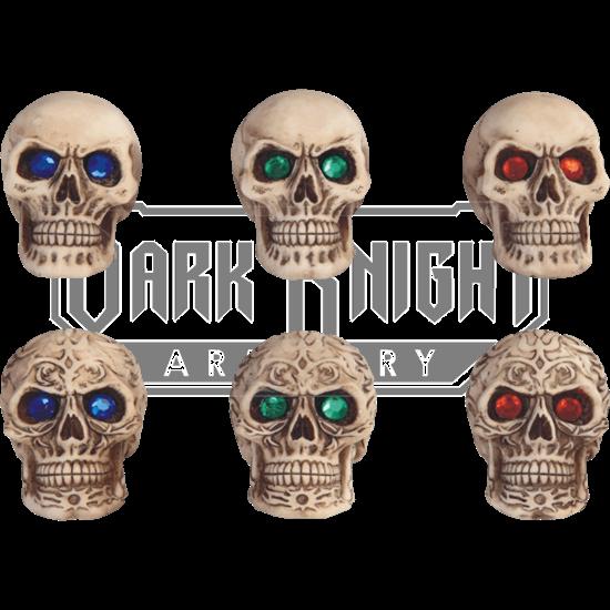 6 Piece Gemmed Skull Set