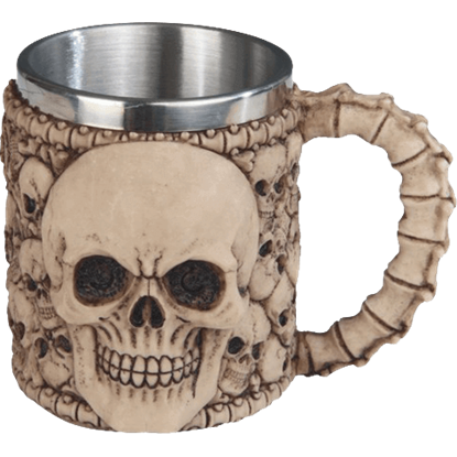 Steel Insert Skull and Bones Mug