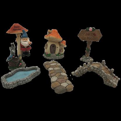Mini Gnome and Fairy Garden Set
