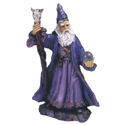 Purple Wizard Statue