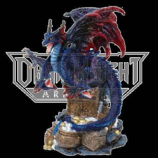 3 Headed Dragon Guarding Treasure Statue