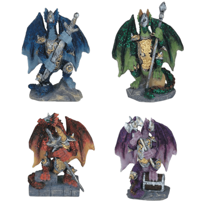 4 Piece Battle Dragons Set