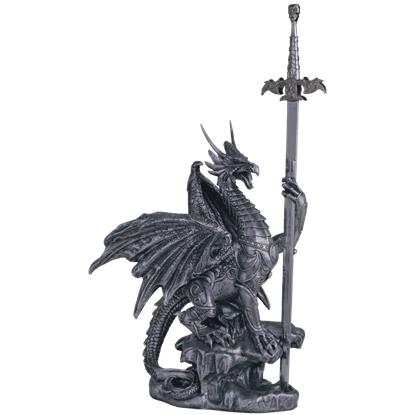 Dragon in Armour Letter Opener