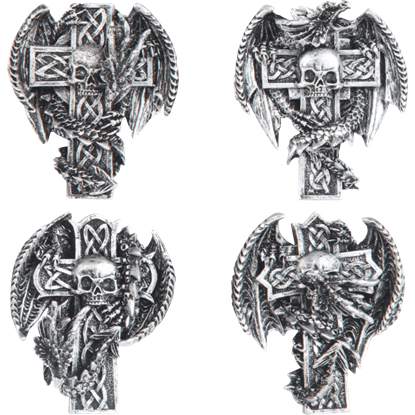 Celtic Dragon Cross Magnet Set