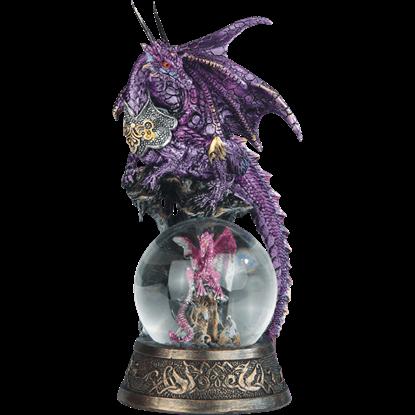 Purple Dragon with Dragon Snow Globe