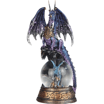 Blue Dragon with Dragon Snow Globe