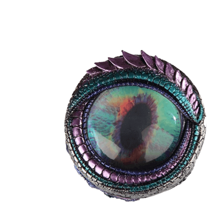 Blue and Green Dragon Eye Trinket Box