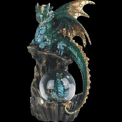 Green Dragon Snow Globe