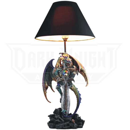 Dragon and Dagger Table Lamp
