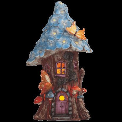 Blue Flower Cottage Garden Statue