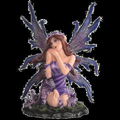 Awakened Purple Flower Fairy Statue