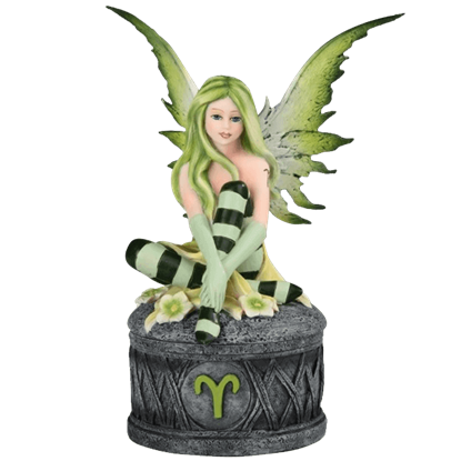 Aries Fairy Trinket Box